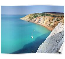 Dropping Anchor for Lunch - Alum Bay - I.O.W. Poster