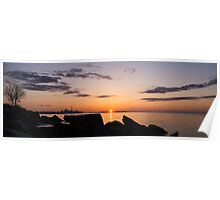 Toronto Skyline Panorama at Sunrise Poster