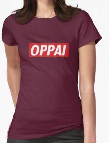 One Punch Man - Saitama - Oppai Womens Fitted T-Shirt