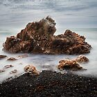 Rocks on a windy day, Boat Harbour, Tasmania by Jim Lovell