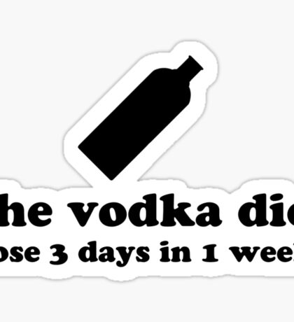 Vodka Diet Sticker