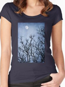 Reach For The Moon Women's Fitted Scoop T-Shirt