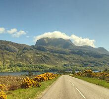Slioch From The A832 by Jamie  Green