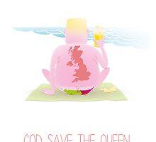 God save the queen by Hermoso Ilustración