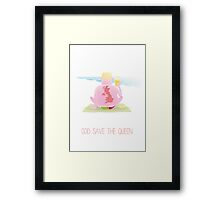 God save the queen Framed Print