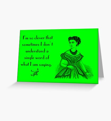 Funny Vintage card Greeting Card