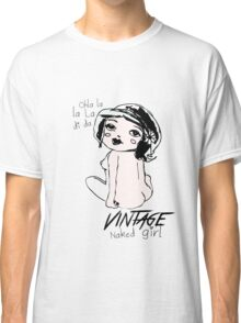 Vintage naked girl Classic T-Shirt