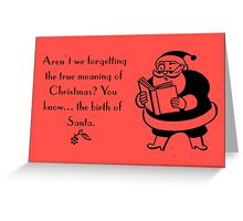 Funny Christmas Vintage card Greeting Card