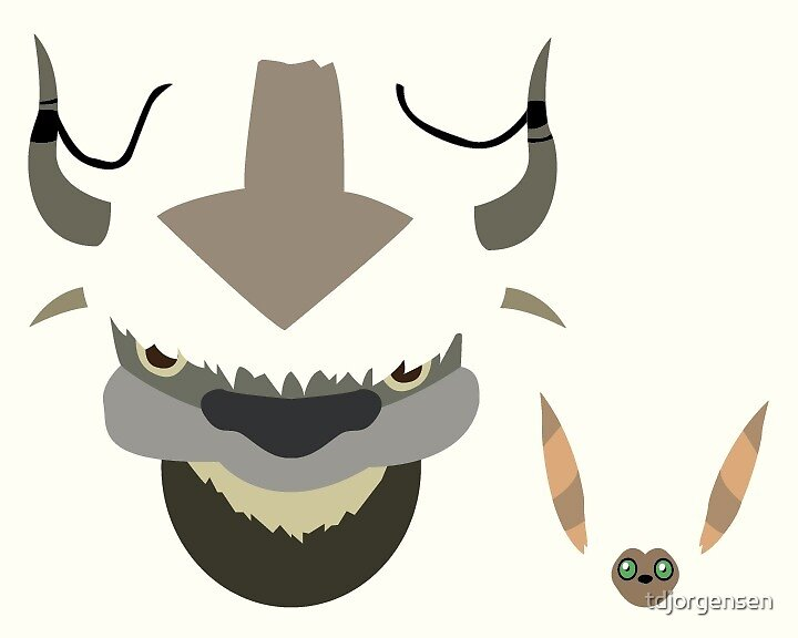 Appa and Momo by tdjorgensen