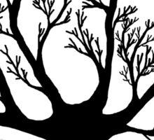 Dead tree skeleton sticker Sticker