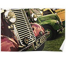 Classic Vehicles - Close Grills Poster