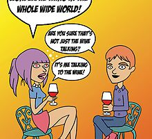 Funny Wine Lovers card by partypeepsfun
