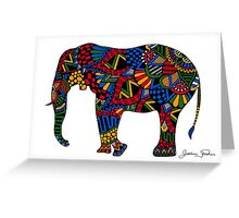 African Elephant Zentangle Greeting Card