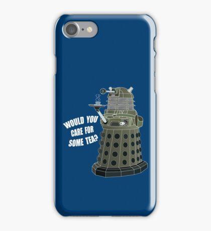 Dalek Cuppa (Colored) iPhone Case/Skin