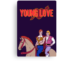 Young Love (He-Man and Bow) Canvas Print