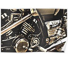Classic Vehicles - Yamaha VMAX Engine Poster