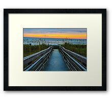 Walkway to Paradise  Framed Print