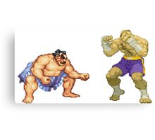 Street Fighter E.Honda vs. Sagat Canvas Print