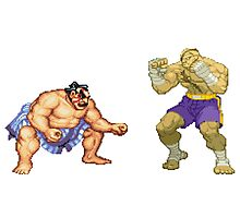 Street Fighter E.Honda vs. Sagat Photographic Print