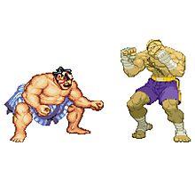Street Fighter E.Honda vs. Sagat Photographic Print