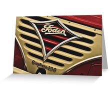Classic Vehicles - Foden Gardner 180 Greeting Card