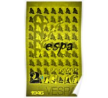 Vespa Scooter  (Gold) Poster