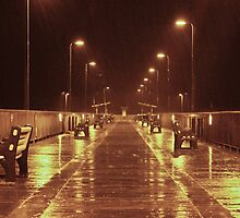 Rainy Night on the Pier by Zarecor