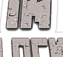 Men In Blocks Logo Sticker