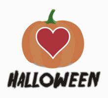 Love Halloween  (T-SHIRT & STICKER) Kids Tee