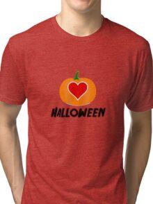 Love Halloween  (T-SHIRT & STICKER) Tri-blend T-Shirt