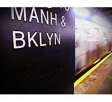 Manhattan and Brooklyn Photographic Print