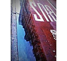 Reflecting on City Life Photographic Print