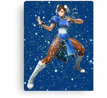 Street Fighter Chun Li Stars Canvas Print