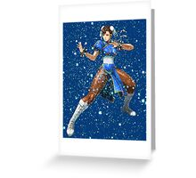 Street Fighter Chun Li Stars Greeting Card