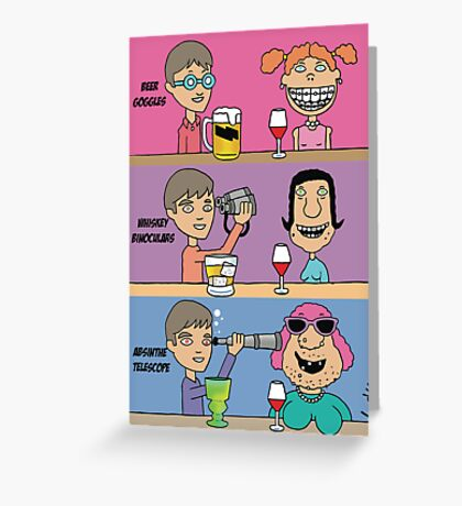 Funny Beer Goggles greeting card Greeting Card