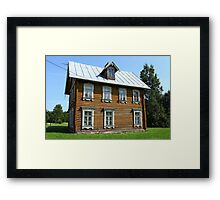log House Framed Print
