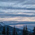 Sunset in La Rosière, Savoie by Judi Lion
