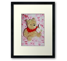 Winnie the Pooh and Lillies Framed Print