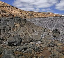 A rockscape in Lanzarote by Judi Lion