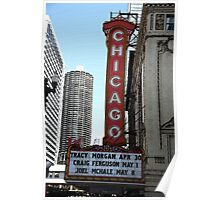"Chicago Theater with ""Watercolor"" Effect Poster"