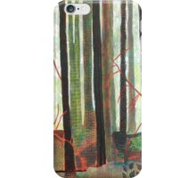 Embroidered Forest, mixed media and zentangles iPhone Case/Skin