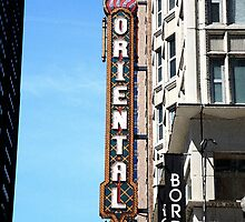 """Oriental Theater with """"Watercolor"""" Effect by Frank Romeo"""