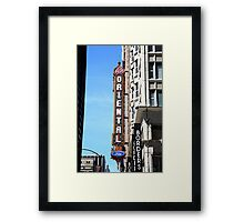 """Oriental Theater with """"Watercolor"""" Effect Framed Print"""