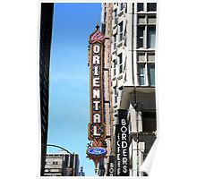 "Oriental Theater with ""Watercolor"" Effect Poster"