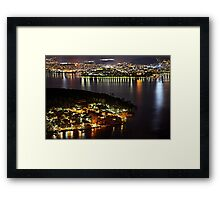Ioannina, the lake, the islet & the village Framed Print
