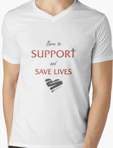 Support  Mens V-Neck T-Shirt