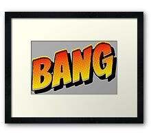 Comic Book Bang! Framed Print