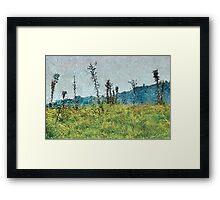Grunge Style Nature Artwork Framed Print