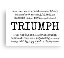 triumph~ Canvas Print