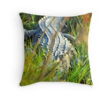 Alligator Resting Throw Pillow